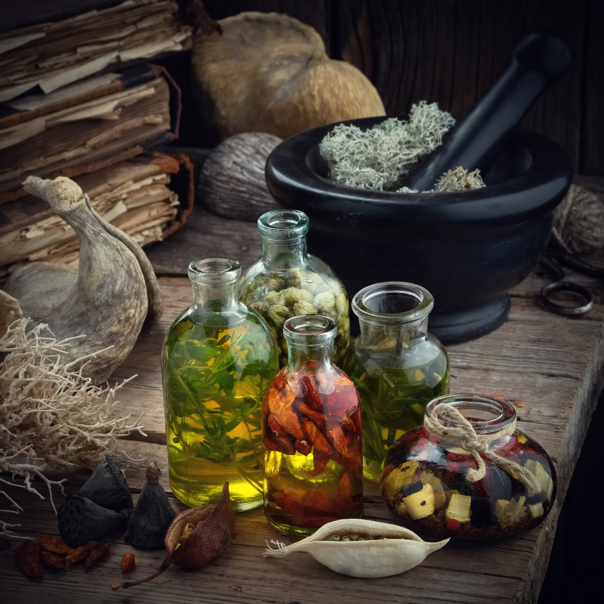 herbal massage oils